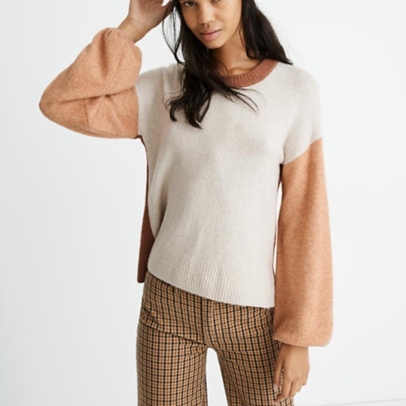 Colorblock Payton Pullover Sweater in Coziest Yarn